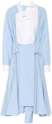 Loewe Asymmetric cotton shirt dress