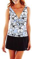 JCPenney Trimshaper® Floral Print Tankini Swim Top