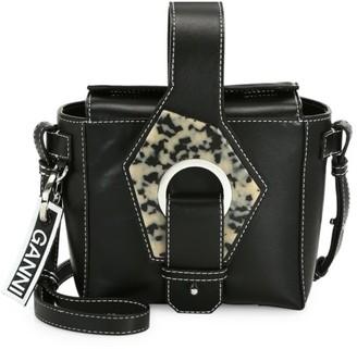 Ganni Leather Crossbody Box Bag