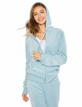 Esstive Women's Soft Velour Midweight Casual Zip-Up Hoodie & Pant Full Set