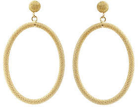 Carolina Bucci 18K Gold Gitane Sparkly Oval Earrings