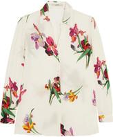 Etro Floral-print Silk-chiffon Shirt - White