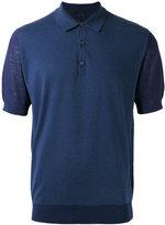 Lanvin knitted polo shirt - men - Cotton/Wool - XL