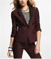 Twill Notched Contrasting Lapel Jacket