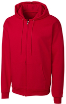 Clique Red Fleece Zip-Up Hoodie - Unisex