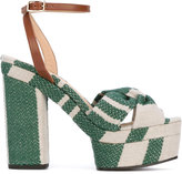 Castaner patterned platform sandals - women - Leather/Canvas/rubber - 36