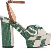 Castaner patterned platform sandals - women - Leather/Canvas/rubber - 37
