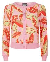 Boutique Moschino Leaf Print Cardigan