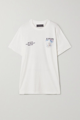 Amiri Printed Cotton-jersey T-shirt - White