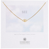 Dogeared Gold Dipped Sterling Silver All Seeing Eye Necklace