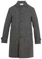 Oliver Spencer Beaumont Point-collar Checked-wool Coat