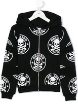 Philipp Plein skull print hoodie - kids - Cotton - 6 yrs