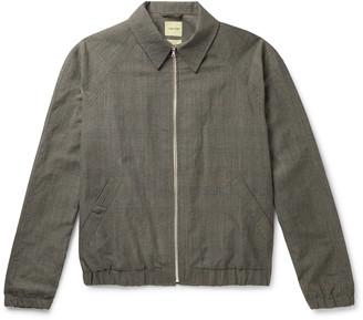 De Bonne Facture Virgin Wool And Linen-Blend Blouson Jacket