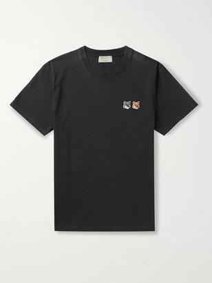 MAISON KITSUNÉ Logo-Appliqued Cotton-Jersey T-Shirt