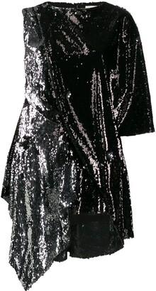 Marques Almeida Draped Sequin Blouse