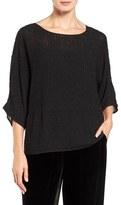 Eileen Fisher Women's Hand Beaded Silk Top