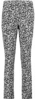 Carven Printed Crepe Slim-Leg Pants