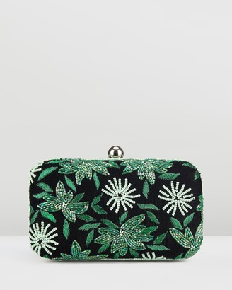 From St Xavier Velvet Flower Box Clutch