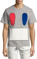 Mostly Heard Rarely Seen Carpet Face Tee, Gray