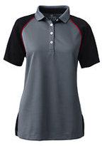 Lands' End Women's Colorblock Active Polo Shirt-Celestial Blue