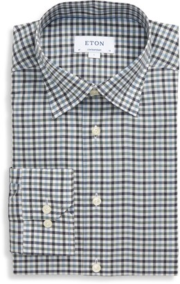 Eton Flanella Contemporary Fit Check Flannel Button-Up Shirt