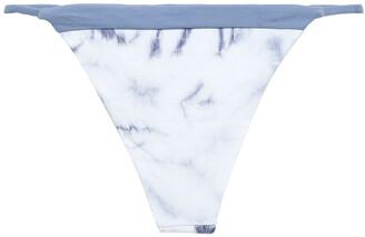 Tori Praver Swimwear Tie-dyed Ribbed Low-rise Bikini Briefs