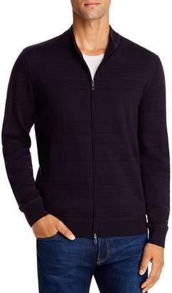Giorgio Armani Knit Front Zip Sweater