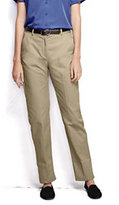Classic Women's Plus Size Plain Chino Pants-Desert Khaki