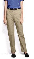 Classic Women's Plus Size Plain Chino Pants-Desert Khaki