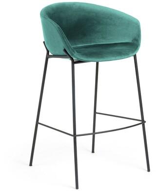 La Forma Australia Gianni Barstool Green Velvet