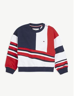 Tommy Hilfiger Colour-block cotton-blend sweatshirt 4-16 years