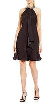 Calvin Klein Beaded Halter Dress