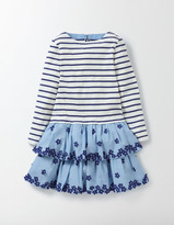 Boden Stripy Ruffle Dress