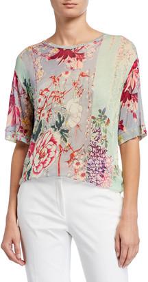 Etro Lily-Print Gauze Tunic