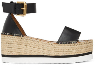 See by Chloe Black Glyn Flat Platform Sandals