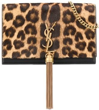Saint Laurent Kate leopard shoulder bag