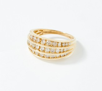 Affinity Diamond Jewelry Affinity 14K Gold Champagne Diamond Channel Set Ring, 1.00 cttw