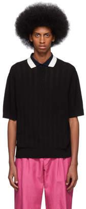 Paul Smith Black Knit Polo