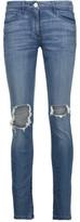 3x1 W2 Distressed Mid-Rise Skinny Jeans