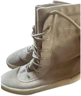 Yeezy Brown Suede Sandals