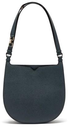 Valextra Hobo Weekend Medium Leather Bag - Womens - Blue