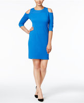 NY Collection Cold-Shoulder Sheath Dress