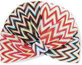 Missoni Metallic Crochet-knit Turban - Red