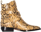 Chloé Rylee 30mm snake-effect ankle boots