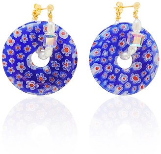 Valerie Chic Thousand Flowers Wreath Pearls - Blue Red