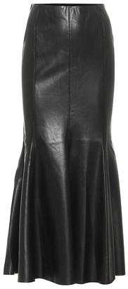 Nanushka Artem faux leather midi skirt