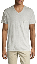 7 For All Mankind Raw V-Neck Tee