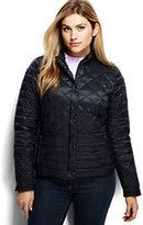 Lands' End Women's Plus Size Lightweight Down Packable Jacket-Magenta Rose