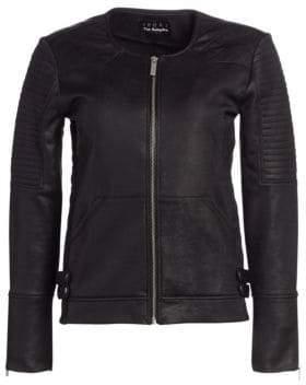 The Kooples Faux Leather Moto Jacket