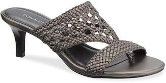 Donald J Pliner Kikki Woven Metallic Leather Sandals
